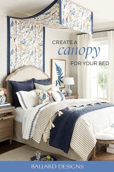 How to Create A Canopy Bed with Fabric