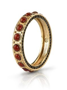 Cabochon Bangle with Stones from House of Harlow 1960