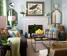 """This soothing """"after"""" is a great use of space! Get more befores and afters here: http://www.bhg.com/rooms/living-room/makeovers/living-room-makeovers/?socsrc=bhgpin080214bettereverything&page=14"""