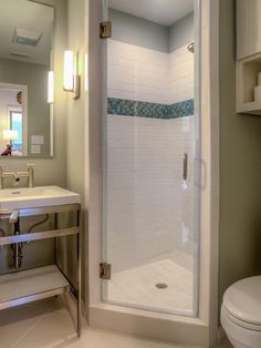 Contemporary Bathroom With Small Tile Shower