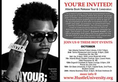Check out Hotep's Hustle University Book Signing coming to a Library all around Atlanta, GA.
