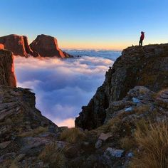 atop the Drakensberg Mountains in South Africa