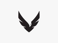 Eagle negative space designed by Jacek Janiczak. V Letter Tattoo, Eagle Icon, Negative Space Tattoo, Bird Silhouette, Black Silhouette, Eagle Drawing, New Background Images, Bird Logos, Eagle Logo