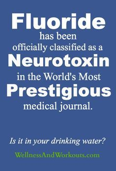 Is fluoride really that dangerous? In a word--yes. If you live in the US and get your tap water from a local utility company, it is likely in your drinking water. (I will have to start saving so I can buy a water filter for our home) Health And Nutrition, Health And Wellness, Health Tips, Health Fitness, Natural Health, Natural Cures, Healthy Life, Healthy Living, Medical Journals