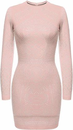 bae858104aa6a ELESOL Women's Slim Fit High Neck Sequin Glitter Bandage Bodycon Dress,  Black/S at Amazon Women's Clothing store: