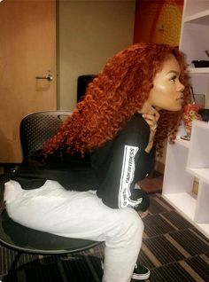 Hair afro Buy this high quality wigs for black women lace front wigs human hair wigs afric. Buy this high quality wigs for black women lace front wigs human hair wigs african american wigs Hair Colorful, Curly Hair Styles, Natural Hair Styles, Colored Natural Hair, High Quality Wigs, Copper Hair, My Hairstyle, Auburn Hair, Wigs For Black Women
