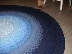 DEPOSIT for  Shades Of Rug blue made to order by greenatheartrugs