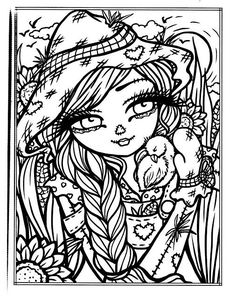 Best Halloween Coloring Books for Adults - Cleverpedia Blank Coloring Pages, Printable Coloring Pages, Coloring Books, Free Adult Coloring, Coloring For Kids, Halloween Coloring Pages, Colorful Drawings, Cool Artwork, Hannah Lynn