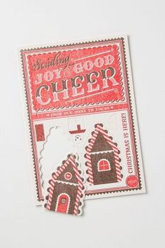 Anthropologie Gingerbread Pop-Out Cards