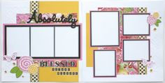 'Making Connections CTMH' Brushed Scrapbook Layout Kit