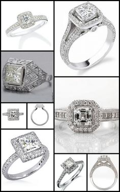 the bridal diamond engagement ring collage - My Engagement Ring