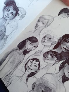 Rachel Suggs Sketches, girls study