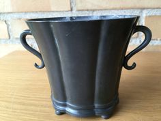 Art Deco vase by Just Andersen 1930s disko metal an by Qvirky