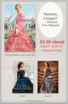 "A Beauty So Rare, a Belmont Mansion novel, $3.99 ebook sale! ""...sweeping Southern romance engaging and full of hope!"" ~Library Journal review"