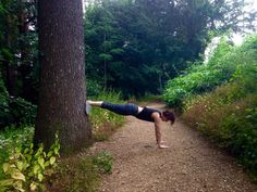 yoga helps to connect with nature. plank