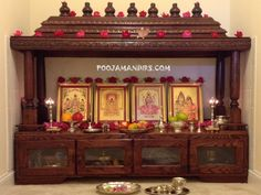 Take a cue from these wooden pooja mandir designs and buy one for your home. You can even pick a nice pooja mandir from here and place an online order. Temple Design For Home, Home Temple, Wooden Temple For Home, Mandir Design, Pooja Room Door Design, Puja Room, Indian Homes, Prayer Room, Indian Home Decor