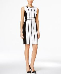 cf5f062e Calvin Klein Colorblocked Sheath Dress & Reviews - Dresses - Women - Macy's