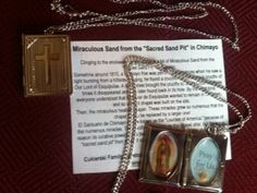 Our Lady of Guadalupe Miraculous Chimayo Sand Locket