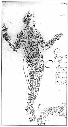 Calligraphic drawings: XVIIth century