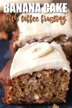 Banana Cake with Toffee Frosting - Recipes Note Cupcake Recipes, Cupcake Cakes, Dessert Recipes, Rose Cupcake, Picnic Recipes, Baking Desserts, Cake Baking, Cupcakes, Bundt Cakes
