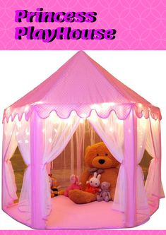 Buy Monobeach Princess Tent Girls Large Playhouse Kids Castle Play Tent with Star Lights Toy for Children Indoor and Outdoor Games, x (DxH) Princess Playhouse, Castle Playhouse, Girls Playhouse, Star String Lights, Star Lights, Toys For Girls, Kids Toys, Kids Castle, House Tent