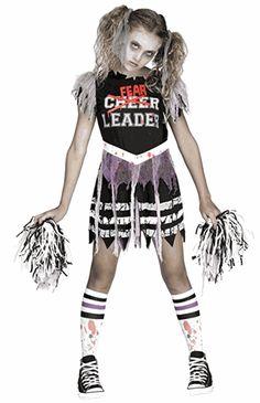 girls halloween costume zombie fear leader