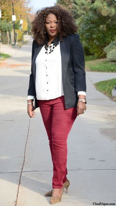 Plus size fashion for women Plus size fashion and style: Burgundy pants