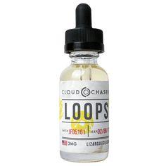 Lizard Juice eLiquids Loops - Vape your breakfast with this milky bowl of fruity flavors.80% VG