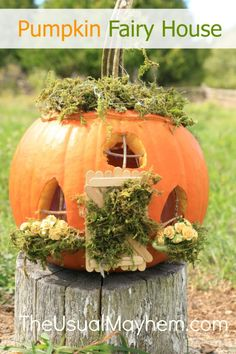 DIY Pumpkin Fairy House from The Usual Mayhem