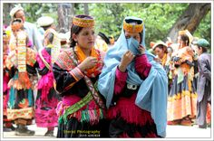 Kalash girls in festival.