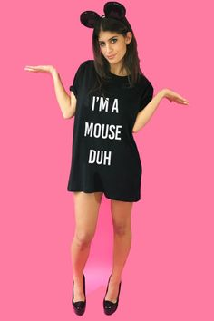 need the s/m size for pjs! I'm A Mouse Duh Oversized T-shirt Dress
