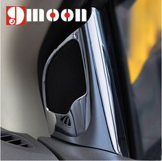 2PCS For Ford Focus 2 MK2 2009- 2013 ABS chrome speaker trim tweeter decoration speaker stickers For Focus 2 auto accessories