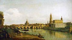 Bernardo Bellotto - Dresden vom rechten Elbufer unterhalb der Augustusbrücke