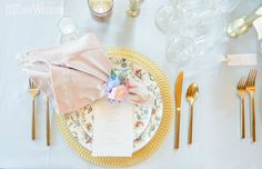 Beautiful fairytale themed weddings | ElegantWedding.ca Modern Groom, Table Setting Inspiration, Couture Cakes, Wedding Place Settings, Floral Gown, Themed Weddings, Event Venues, Wedding Centerpieces, Fairytale