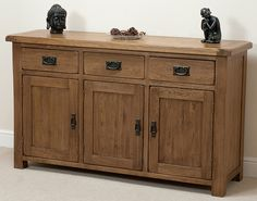 win this stunning Rustic Solid Oak Large Sideboard worth over £590.