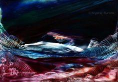 ~Serenade the Journey~ ©Mystic Raven  Encaustic Painting