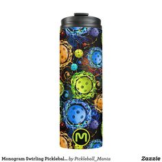 Monogram Swirling Pickleballs - Thermal Tumbler