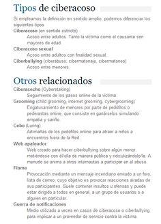Tipos de #ciberacoso
