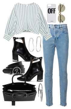 """""""Untitled #433"""" by sineadelhardt ❤ liked on Polyvore featuring Levi's Made & Crafted, MANGO, Sophie Buhai, Off-White, Witchery, Toga, Yves Saint Laurent and Cartier"""