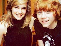 Emma Watson and Rupert Grint.