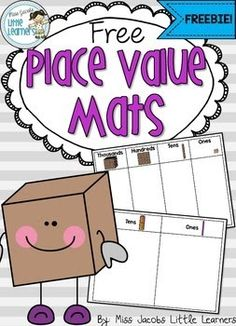 Place Value Mats {FREEBIE}   Place Value Mats {FREEBIE}   Original article and pictures take https://www.teacherspayteachers.com/Product/Pla...