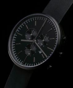 Uniform Wares   302 Series Chrono Watch   Black
