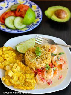 Camarones a la Criolla con Coco (Creole and Coconut Shrimp) My Colombian Recipes, Colombian Cuisine, Shrimp Stew, Vegan Gains, Coconut Shrimp, International Recipes, Seafood, Main Dishes, Dinner Recipes