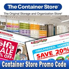 picture about Container Store Coupon 20 Printable identified as 7 Ideal Container Retailer Promo Code photos inside of 2013 Container