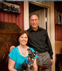 """The most important """"person"""" in this photo... Countess Sophie Marie, our 4-legged assistant innkeeper."""