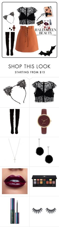 """Pre-Halloween party"" by stephanymartinezgarcia ❤ liked on Polyvore featuring True Craft, Nasty Gal, Chicwish, Christian Louboutin, Nine West, Tuleste, Anastasia Beverly Hills and Puma"