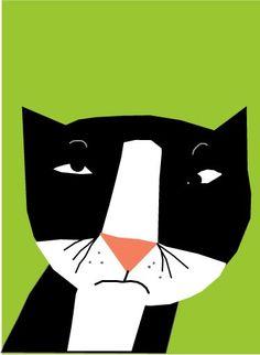 Cat with attitude by lizzy clara http://www.etsy.com/shop/LizzyClara?ref=exp_listing