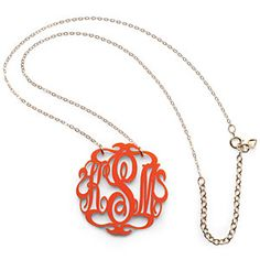 Monogrammed Necklace | Two Southern loves come together - wo great Southern loves—monograms and team colors