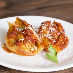 Not sure what to do with leftovers? The solution: stuffed pasta shells.