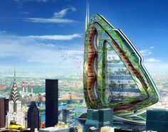 The Dragonfly for New York by  Vincent Callebaut via inhabitat.com